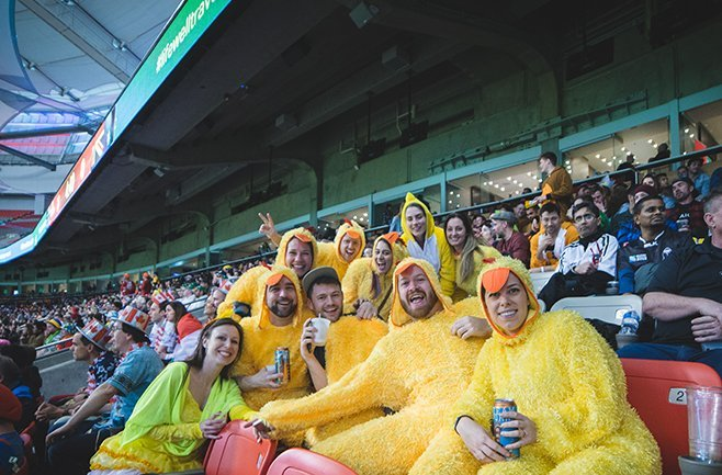BEST FANCY DRESS FROM CANADA SEVENS FANS